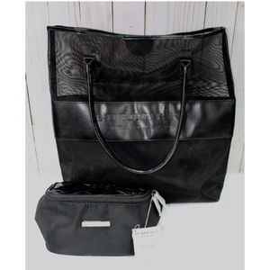 Burberry fragrance Black Tote & Jewelry Pouch New